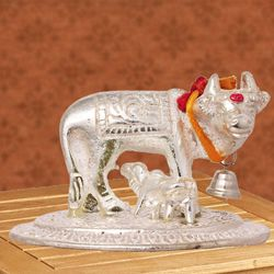Exclusive Kamdhenu Cow N Calf Idol for Pooja Mandir to Aizawl