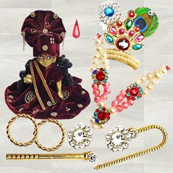 Marvelous Laddu Gopal Accessories Gift Combo to Agroli