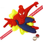 One Spiderman  Rakhi   with Roli and Chawal to Ariyalur