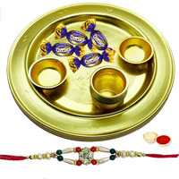 Free Rakhi , Roli Tilak and Chawal along with an Elegant Silver Plated Thali with Chocolates makes your Rakhi celebration and siblings just crazy to Dehradun