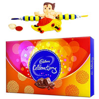 Yummy Celebration Chocolate Pack with Hanuman Rakhi and Roli Tilak Chawal to Bangalore