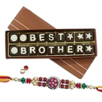 Best Brother Chocolate Pack (18pcs) with Rakhi and Roli Tilak Chawal to Bangalore