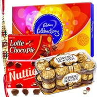 Rakhi Gifts - Chocolate Hamper N Rakhi to Bangalore