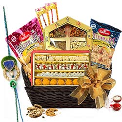 Sensational Rakhi Treat Forever Basket to Cochin