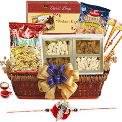 Remarkable Gift of Rakhi Basket to Bangalore