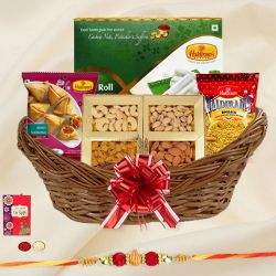 Splendid Rakhi Basket Hamper Loaded with Amazing Products to Bangalore