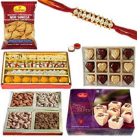Lovely Rakhi Sweet and Spicy Hamper to India