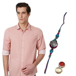 Regular Fit Peter England Shirt with Rakhi Gift Set to Cochin