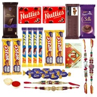 Appetizing Rakhi Chocolate to Cochin
