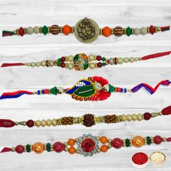 Rakhi Set-5 Pcs Rakhi to Tirunelveli