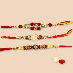 Designer Rakhi Set-3 Pcs to Nakoda