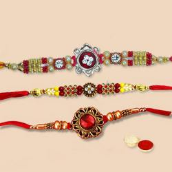 Designer Rakhi Set-3 Pcs to Tirunelveli