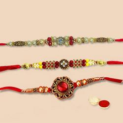 Designer Rakhi Set5-3 Pcs to Nakoda