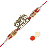 Adorable Biker Rakhi for your Brother to Bangalore