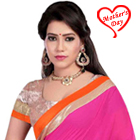 Soft Shimmer Pink Georgette Saree to Agra