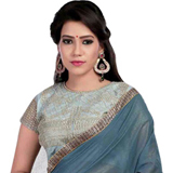 Chromatic Charm Grey Super Coting Saree to Ghaziabad