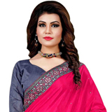 Rosy Beam Pink Mono Net Silk Saree to Haridwar