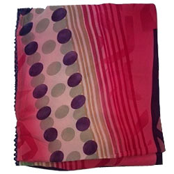 Fabulous Pink Color Printed chiffon Saree to Abohar
