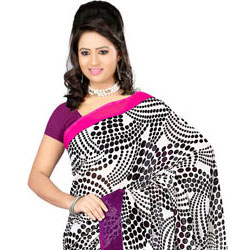 Impressive Dani Georgette Saree With Touch of Glamour to Amritsar
