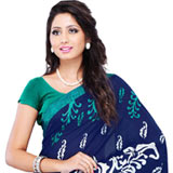 Trendy Faux Georgette Saree with Kimaya Material to Mysore