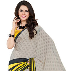 Outstanding Multicolor Faux Georgette Saree to Amritsar