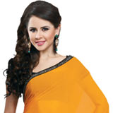 Adorning Multicolor Faux Georgette Saree to Gorakhpur