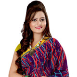 Sophisticated Multicoloured Georgette Printed Saree to India