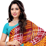 Enticing Maroon and Turquoise Coloured Heavy Dani Georgette Printed Saree to Purulia