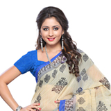 Stylish Multi-Shaded Ethnic Printed Chiffon Saree to Bangalore