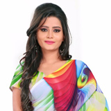 Dazzling Digital Printed Multicoloured Georgette Saree to Bhadrawati
