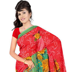 Designer Printed Georgette Saree from Suredeal Brand to Lakshadweep