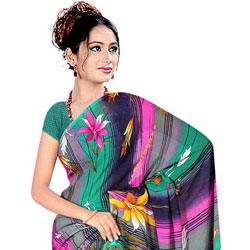 Beautiful Suredeal Printed Georgette Fabric Saree for Women to Ghaziabad
