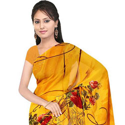 Gorgeous Suredeal Georgette Printed Saree for Beautiful Ladies to Thiruvananthapuram