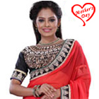 Stylish Crepe Fabric Printed Saree in Orange Colour to Agra