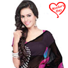 Radiant Looking Georgette Saree to Kolkata