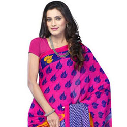 Harlequin Glory Chiffon Saree to Chandigarh