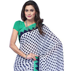 Prismatic Blaze Chiffon Saree to Bhadrawati