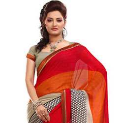 Popular Faux Georgette Saree to Bulandsher