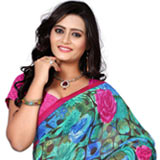 Graceful Weightless Printed Saree to Bangalore