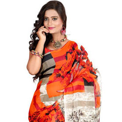 Breezy Elan Faux Georgette Saree to Cochin