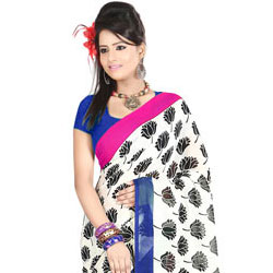 Suave Faux Georgette Printed Saree to Ghaziabad
