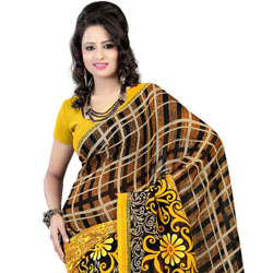 Elegant Faux Georgette Printed Saree to Amravati