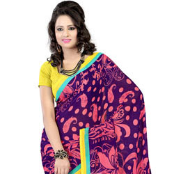 Luminous Dazzle Faux Georgette Saree to Agra