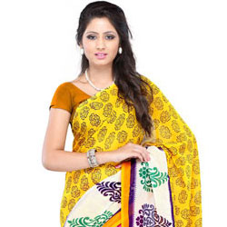 Sedate Splendour Faux Georgette Saree to Anantapur