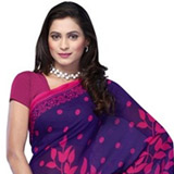 Glossy Sensation Georgette Saree to Delhi