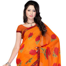 Perky Oomph Georgette Saree to Agra