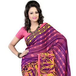 Nurtured Nattiness Georgette Saree to Jaipur