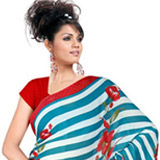Kaleidoscopic Vanity Chiffon Saree to Almora