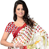 Feisty Brilliance Georgette Saree to Ghaziabad