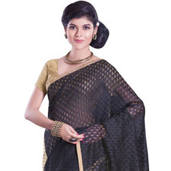 Soothing Distinctiveness Net Chanderi Saree to Bangalore